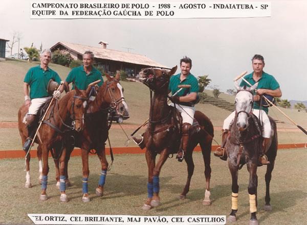 Equipe da Federação Gaúcha no Campeonato Brasileiro de Polo. Enviada por José Klabin