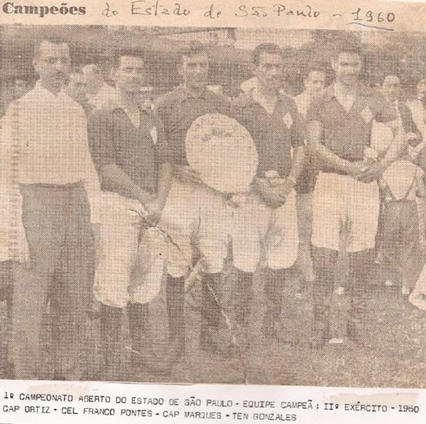 Equipe campeã do primeiro Aberto do Estado de São Paulo - 1960. Enviada por José Klabin